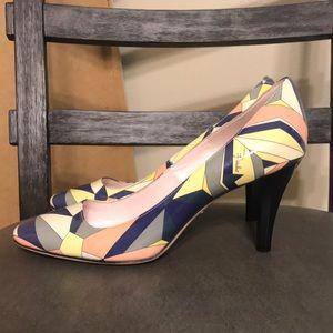 Authentic Emilio Pucci pumps heels sz E 37 US 6.5